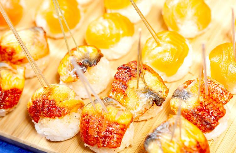 ウナギの手毬寿司